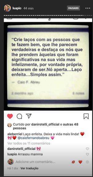 Luana Piovani manda suposta indireta para Anitta e Pedro Scooby. Foto: Reprodução/Instagram