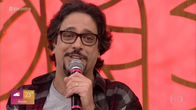 Eduardo Galvão Lucio Mauro Filho falade João Carlos Barroso ator que faleceu na noite de segunda-feira (Imagem: Globo)