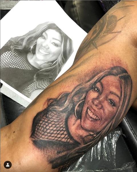 Tatuagem de Silvana Oliveira no braço de Renato (Foto: Reprodução/ Instagram)