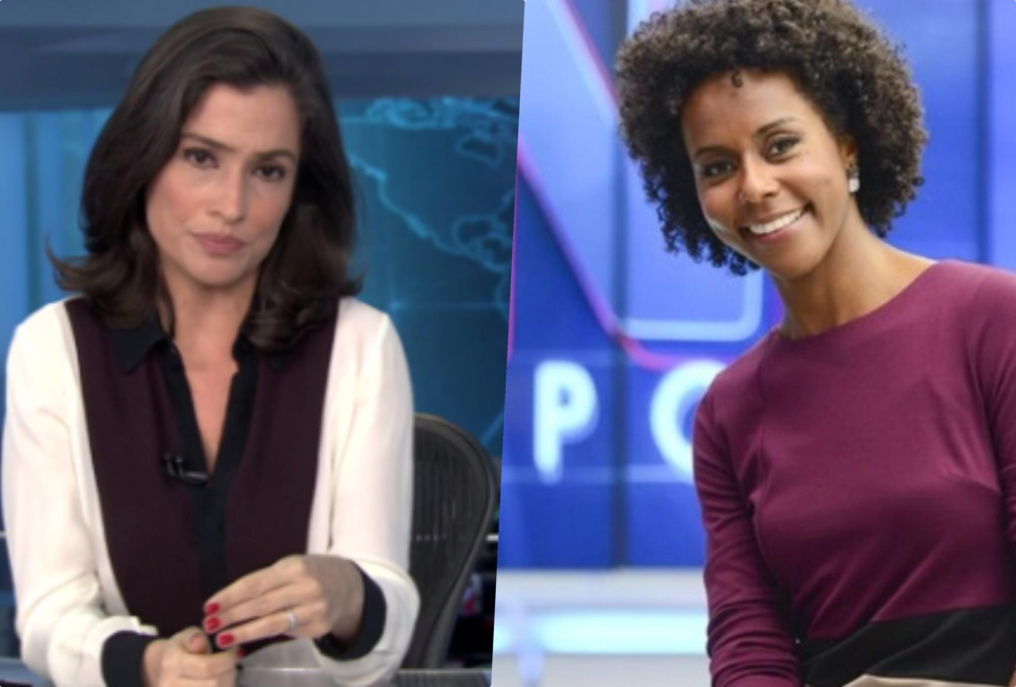Maju Coutinho é apontada como substituta de Renata Vasconcellos no Jornal Nacional globo(Reprodução)