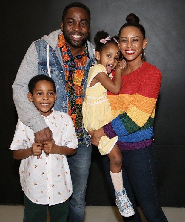 Taís Araújo, Lazaro Ramos e filhos. Foto: Reprodução