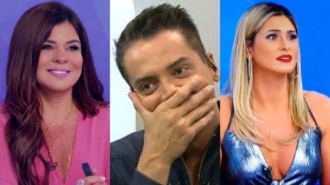 Os apresentadores do SBT, Mara Maravilha, Leo Dias e Lívia Andrade (Foto: Reprodução)