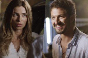 Marcos (Romulo Estrela) ficará eufórico por reencontrar Paloma (Grazi Massafera) em Bom Sucesso
