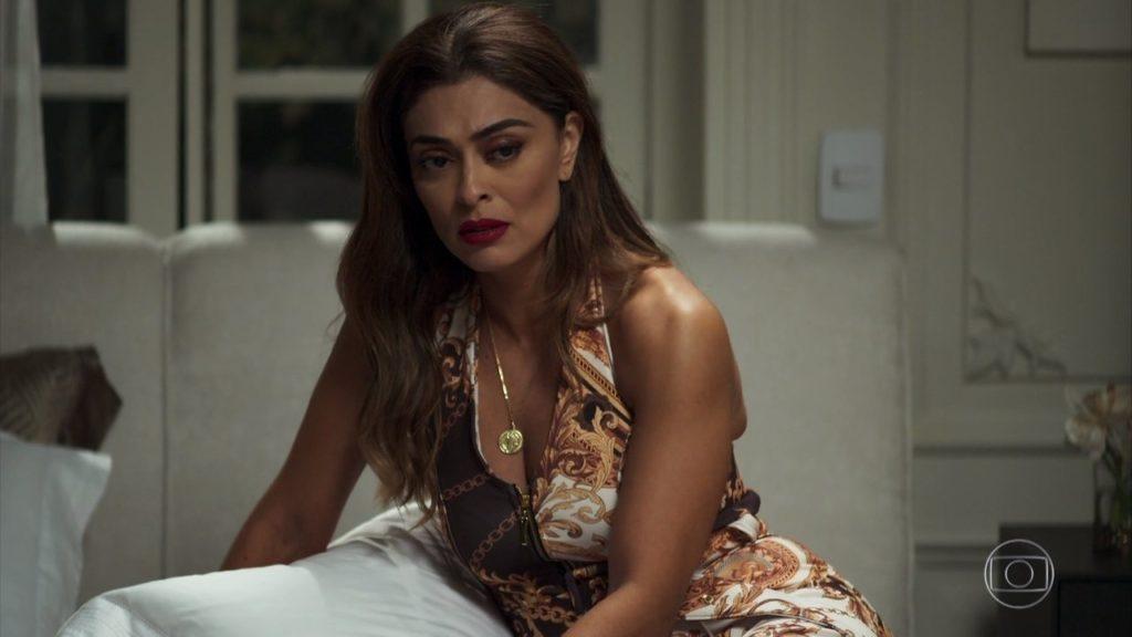 Juliana Paes em cena na novela A Dona do Pedaço da Globo (Foto: Reprodução/Globo)