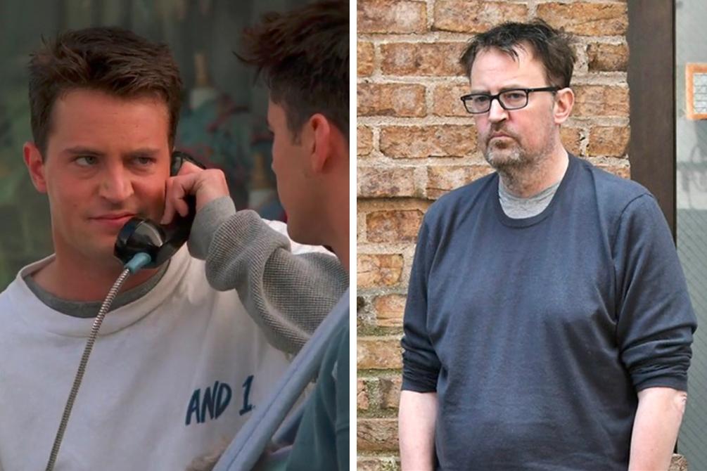 Antes e depois de Matthew Perry (Foto: Reprodução)