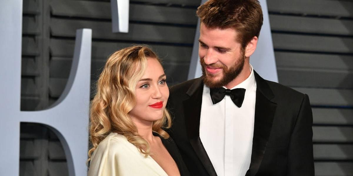 Cantora Miley Cyrus e o ator Liam Hemsworth (Foto: Reprodução)