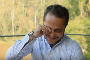 O ex-ator da Globo e marido de Andressa Ferreira, Thammy Miranda foi aos prantos (Foto: Reprodução)