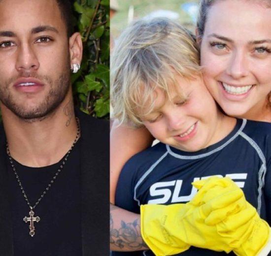 Carol Dantas, ex de Neymar, escancarou a relação com o filho do jogador (Foto: Reprodução/ Montagem)