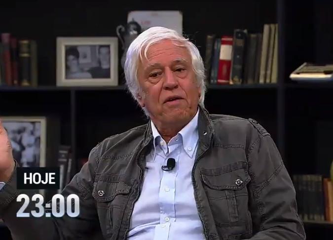 O ator Nuno Leal Maia, de 71 anos, falou sobre a profissão de ator em entrevista ao programa da RedeTV! Mariana Godoy Entrevista (Foto: Reprodução/ RedeTV!)