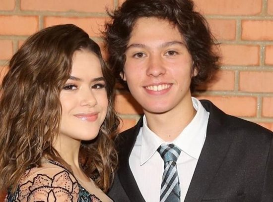 Maisa ao lado do namorado, Nicholas Arashiro. (Foto: Reprodução)