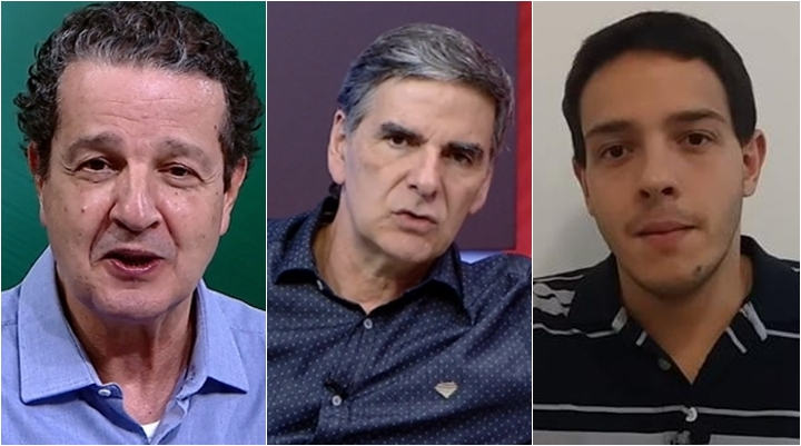 Juca Kfouri, João Carlos Albuquerque e Rafael de Oliveira estão na lista de dispensados pela ESPN Brasil. (Foto: Montagem/Reprodução)