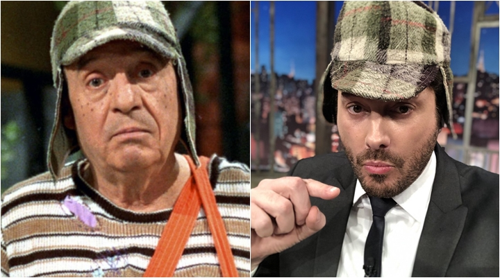 Danilo Gentili com gorro original de Chaves. (Foto: Montagem/Reprodução)