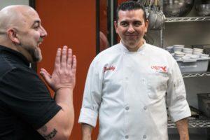 Buddy Valastro e Duff Goldman no Duelo de Confeiteiros (Foto: Divulgação/Record)