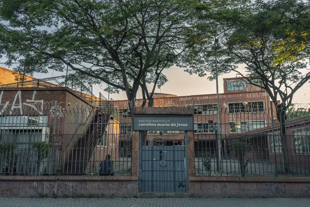 Escola usada como locação para a série Segunda Chamada, (Mauricio Fidalgo/ Globo)