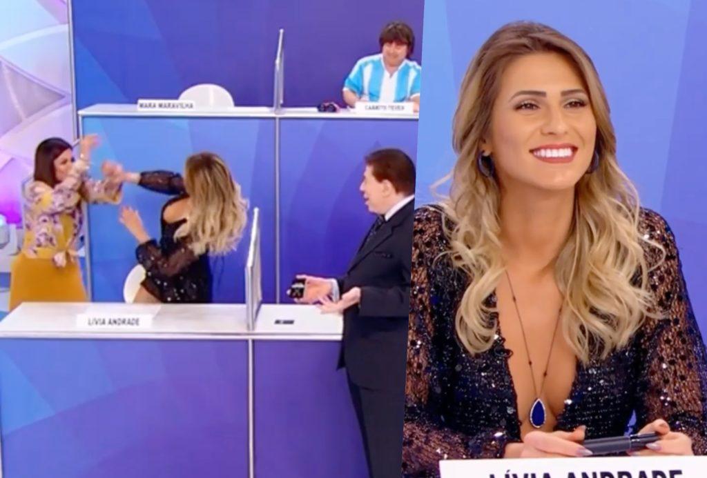 Silvio Santos tentou unir Lívia e Mara no SBT, mas resultado foi desastroso (Foto montagem: TV Foco)