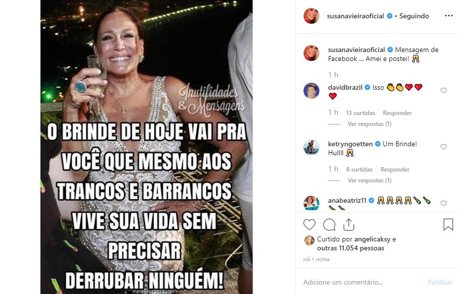 Susana Vieira causou mais uma vez em seu Instagram, onde postou uma imagem que pareceu uma grande indireta para alguém em específico - Reprodução/Instagram