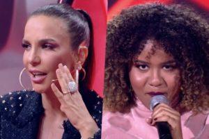 Ivete Sangalo ficou desconcertada no The Voice Brasil após ser colocada contra a parede