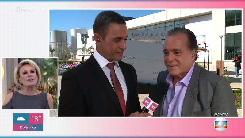 Tony Ramos durante participação no Mais Você (Foto: Reprodução/Globo)