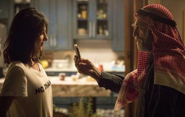 Camila e Aziz em cena de Órfãos da Terra (Foto: Globo/Victor Pollak)