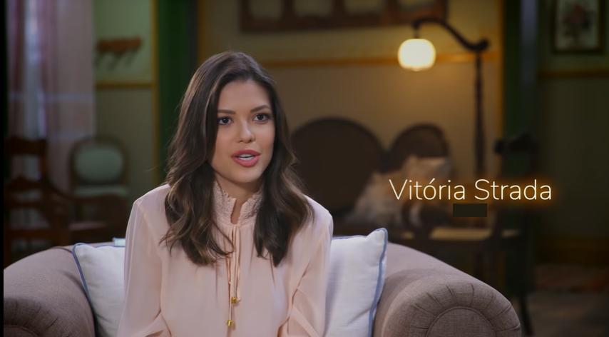 A atriz Vitória Strada deixou o elenco do quadro Dança dos Famosos na Globo. (Foto: Reprodução)