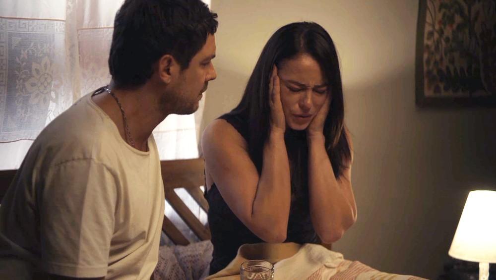 Chiclete e Vivi Guedes em cena da novela A Dona do Pedaço (Foto: Reprodução)