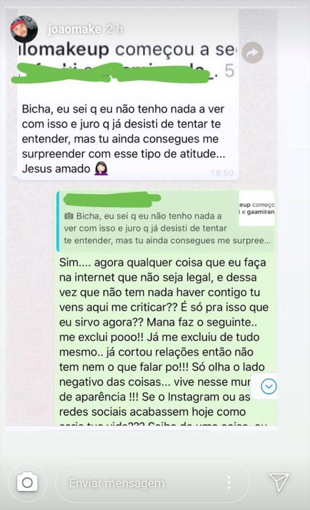 Maquiador expõe conversa com Vivian Amorim (Foto Reprodução)