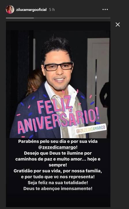Zilu Godoi resolveu desejar felicitações para Zezé Di Camargo por mais um ano de vida (Foto: Reprodução/ Instagram)