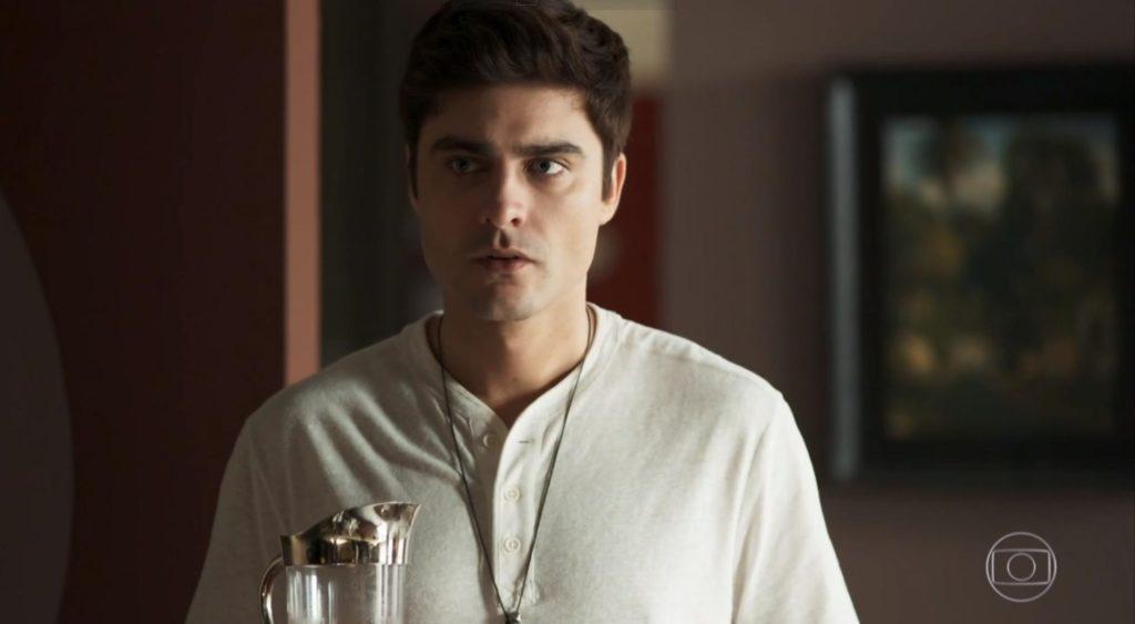 Guilherme Leicam (Leandro) em cena na novela A Dona do Pedaço, trama das sete da Globo. (Foto: Reprodução)