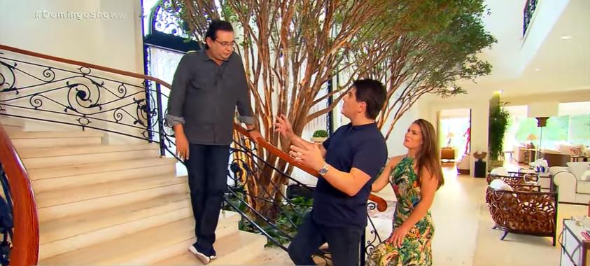 Cesra Filho abriu as portas da sua mansão para o apresentador Geraldo Luís e mostrou detalhe inusitado. (Foto: Reprodução)
