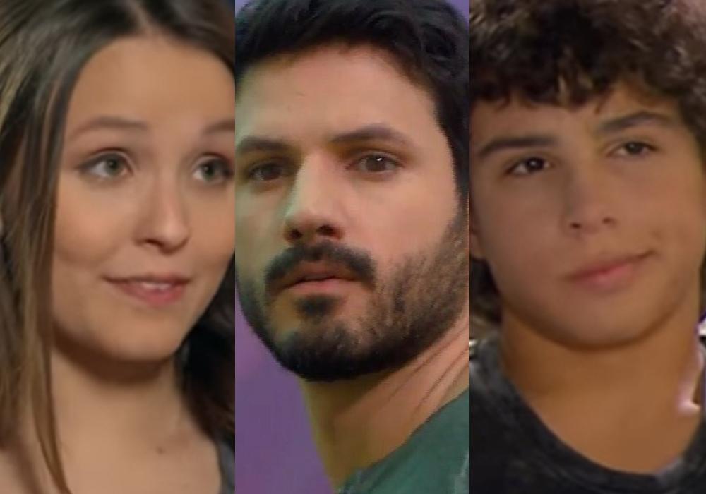 Mirela (Larissa Manoela), Marcelo (Murilo Cezar) e João (Igor Jansen) em destaque no capítulo da novela As Aventuras de Poliana, do SBT. (Foto: Reprodução)