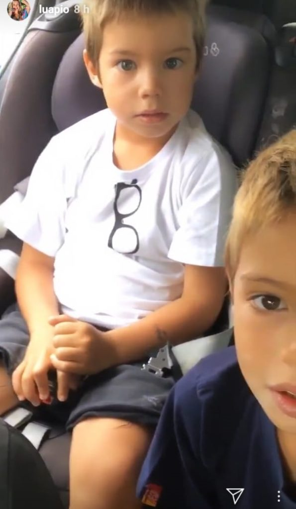 Filho de Luana Piovani a corrigiu após gafe da atriz. (Foto: Reprodução)