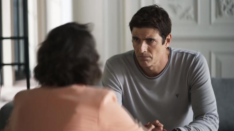 Régis (Reynaldo Gianecchini) terá embate com Josiane (Agatha Moreira) em A Dona do Pedaço (Foto: Reprodução/Globo)