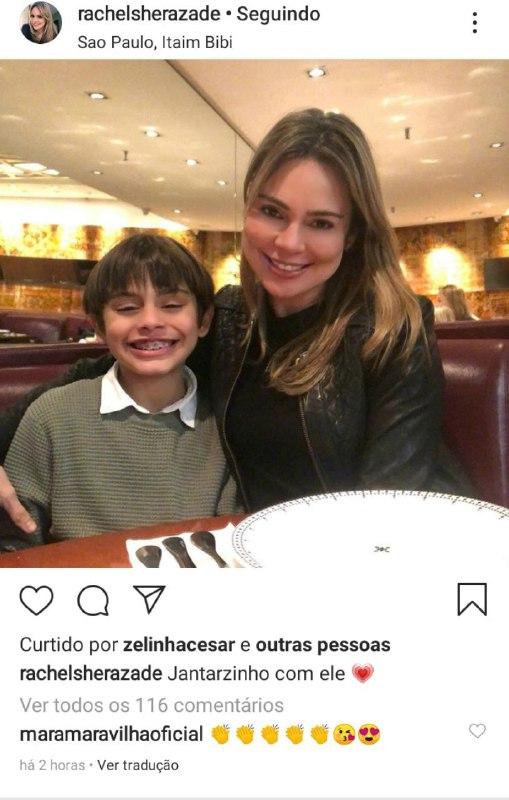Rachel Sheherazade e o filho, Gabriel, juntos (Foto: Reprodução/ Instagram)