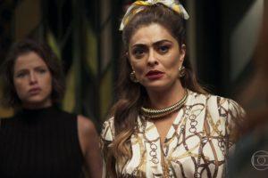 Maria da Paz (Juliana Paes) e Josiane (Agatha Moreira) em A Dona do Pedaço (Foto: Reprodução/Globo)