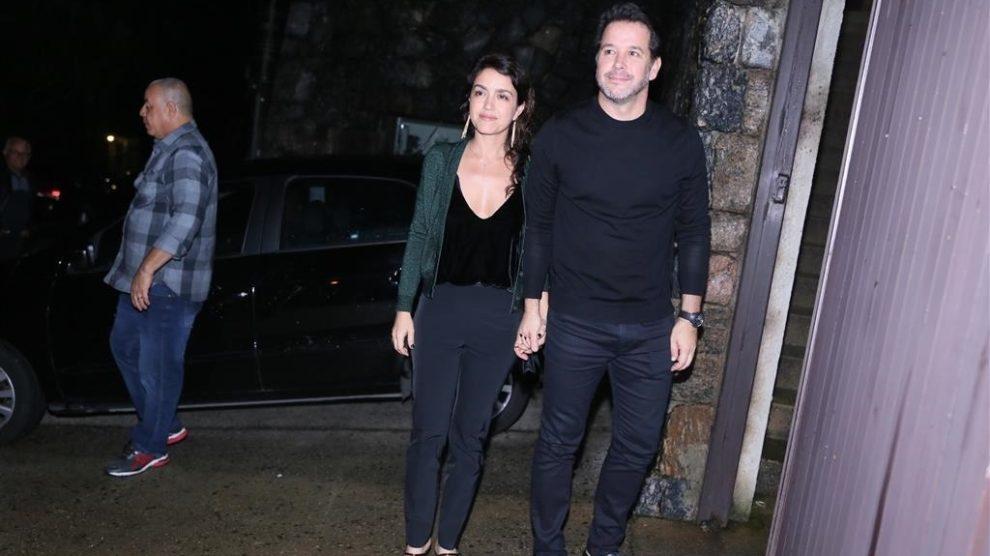 Ator apareceu pela primeira vez em público com a nova namorada. Foto: Anderson Borde / AgNews