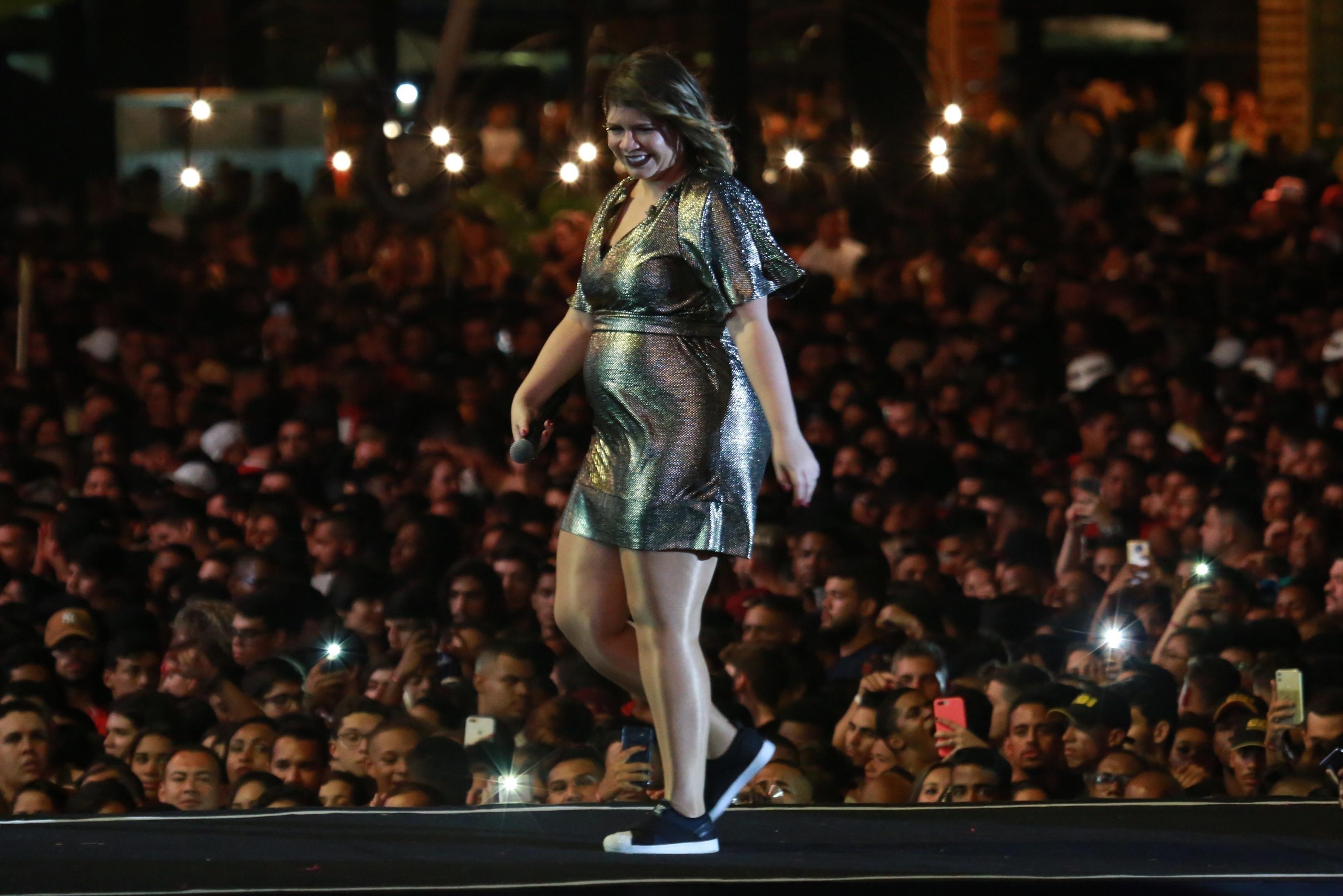 Marília Mendonça no Salvador Fest (Foto: Dilson Silva/AgNews)