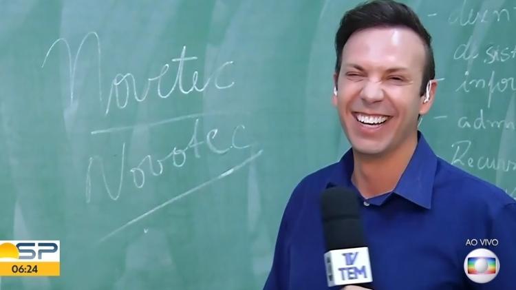 Jornalista da Globo André Modesto
