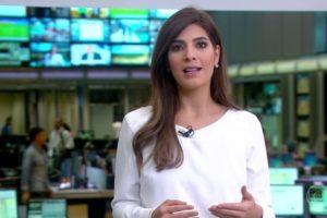 Andréia Sadi no estúdio do Jornal Hoje (foto: reprodução/TV Globo)