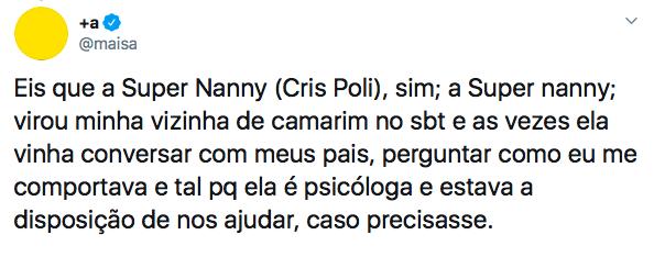 Maisa Silva, Super Nanny