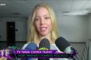 Najila Trindade dando entrevista após deixar a delegacia. Foto: Reprodução/RedeTV!