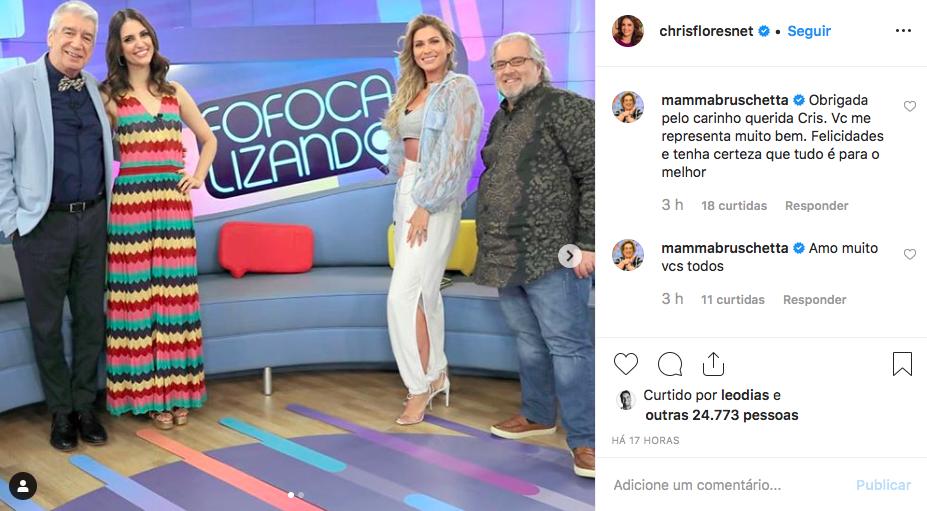 Fofocalizando, Mamma Bruschetta, Chris Flores