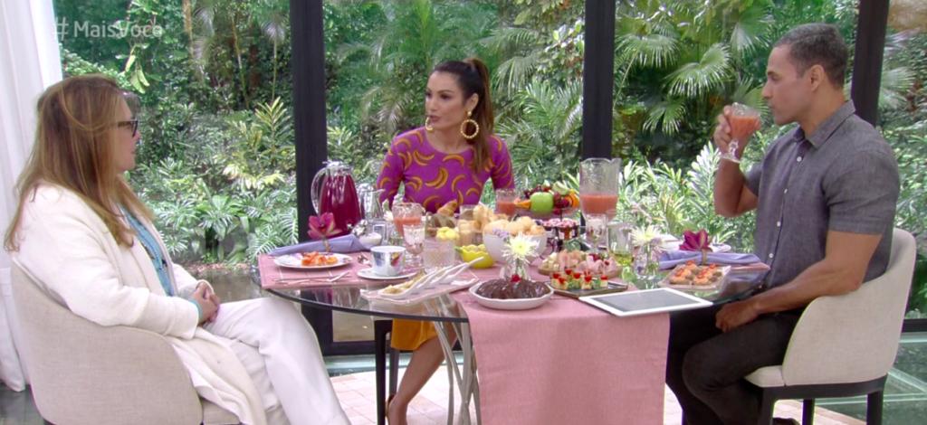 Maria Zilda deixou os apresentadores do Mais Você, na Globo, constrangidos ao dizer que preferia Ana Maria Braga no programa comandado por Patrícia Poeta. Foto: Reprodução