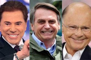 O Presidente da República Jair Bolsonaro fez aliança com Silvio Santos e Edir Macedo e tem dado o que falar (Foto: Divulgação: Montagem / TV Foco)