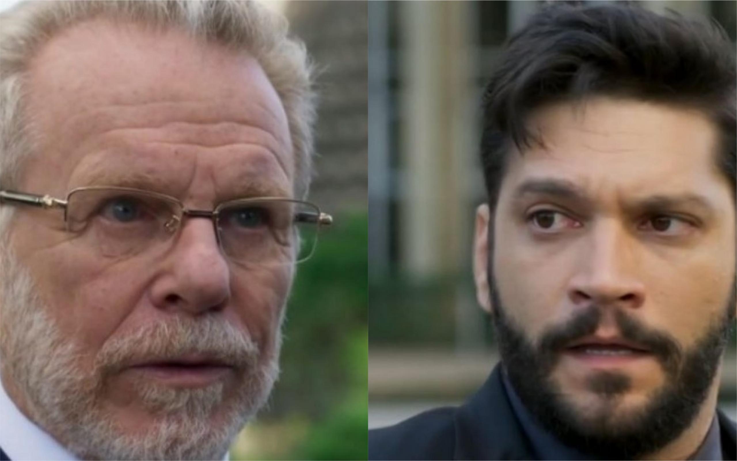 O ator Jonas Bloch, que interpreta Eric Feitosa e o ator Armando Babaioff, que interpreta Diogo, tiveram briga feia nos bastidores de Bom Sucesso e motivo foi revelado (Foto: Divulgação / Montagem / TV Foco)