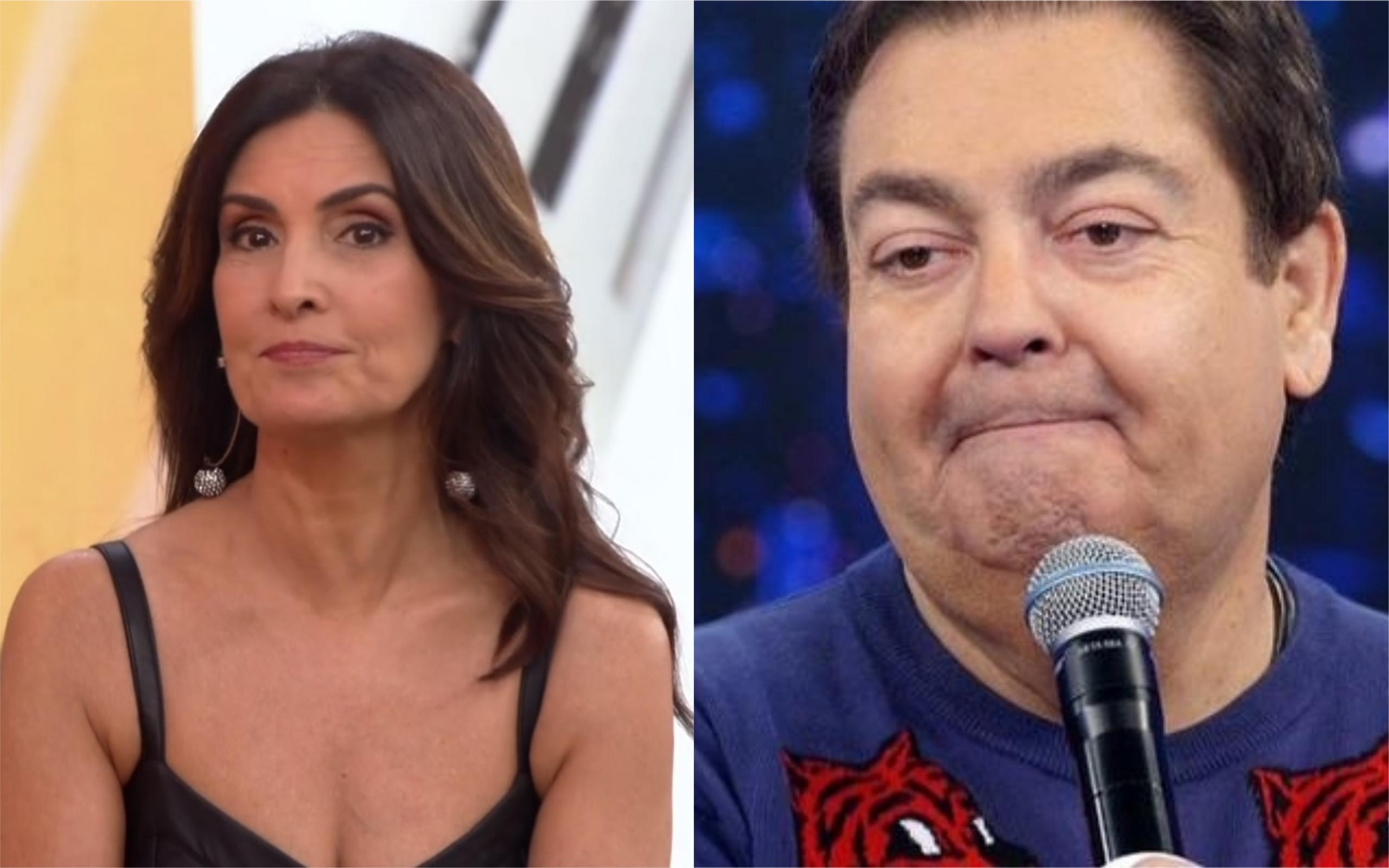 A apresentadora Fátima Bernardes e o apresentador Fausto Silva, mais conhecido como Faustão (Foto: Divulgação / Montagem / TV Foco)