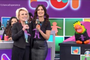 Ana Maria Braga, Fátima Bernardes, Cauê Fabiano