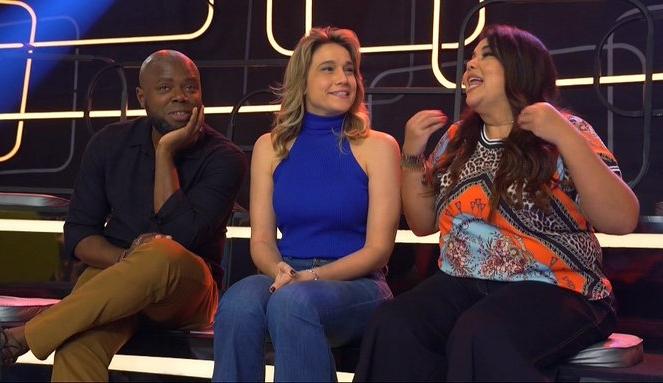 Érico Brás, Fernanda Gentil e Fabiana Karla no estúdio do programa Se Joga (Foto: Reprodução/Globo)