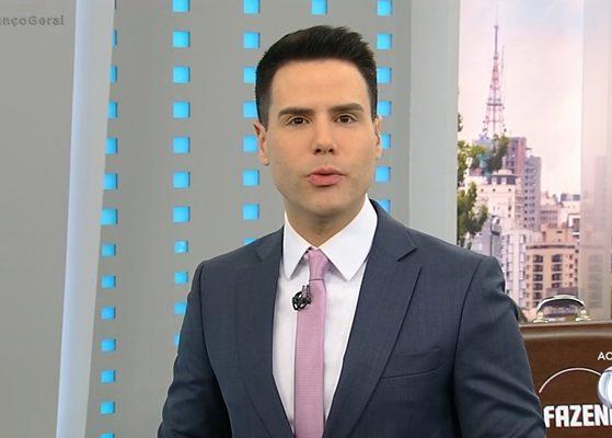 Luiz Bacci no comando do Balanço Geral SP; líder de audiência (Foto: Reprodução/Record)