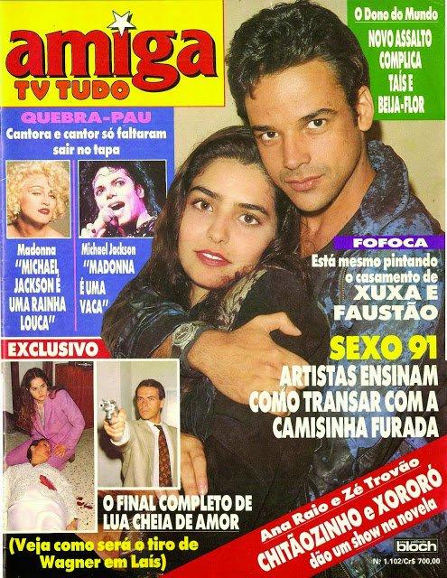 Notícia de revista sobre casamento entre Faustão e Xuxa nos anos 1990 repercutiu na web (Reprodução:Twitter)