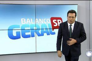 O apresentador da Record, Geraldo Luis, Balanço Geral
